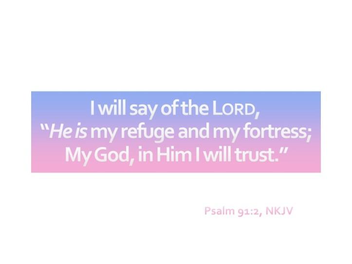 Psalm 91:2 New King James Version
